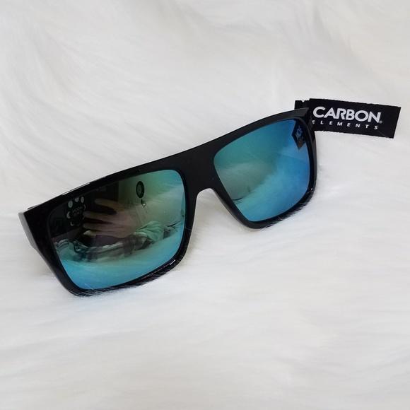 7568b82286d Carbon Elements Green Sunglasses UV 400 Protection